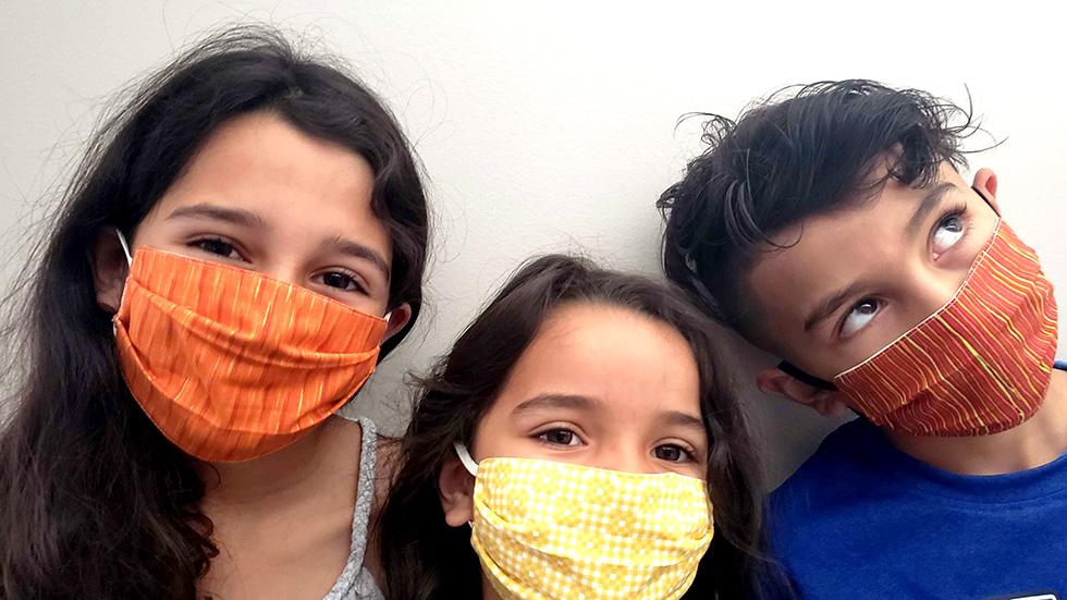 Let's get some masks on those kids
